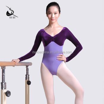 f8d2402db55b 11314111 Long Sleeve Leotard Velvet Ballet Leotards - Buy Leotards ...