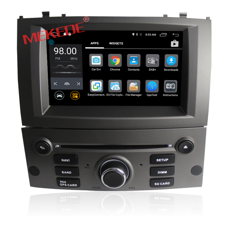 Quad Core Android 7.1 Car Auto Radio Player For PEUGEOT 407 With GPS Navigation Radio 2GB RAM 16GB ROM DVR 4G WIFi