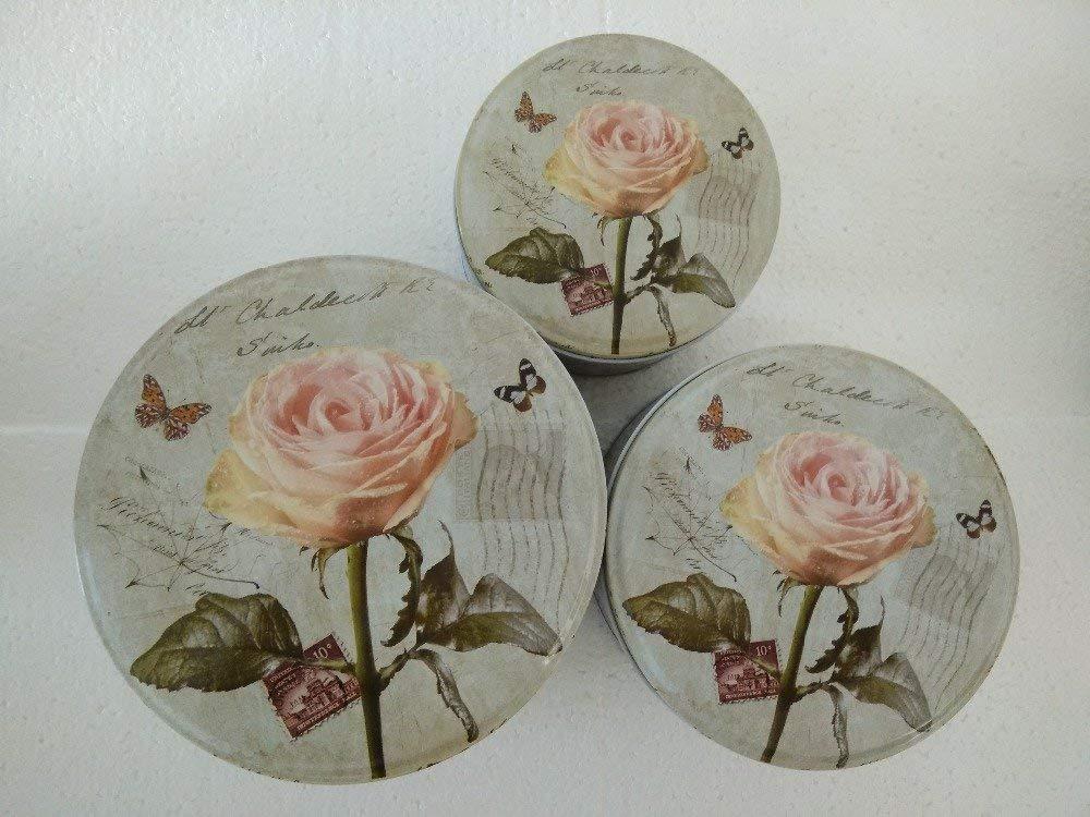3PCS/set Metal beautiful flower pircuture storage box,iron biscuits box, household debris box,christmas eve gifts packing tin boxes