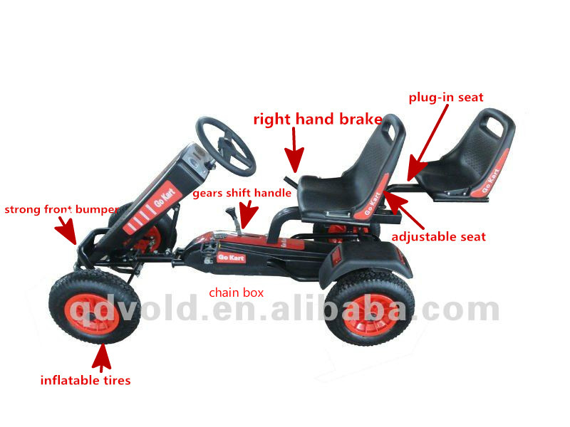 Adult Kids 2 Seats Pedal Go Kart For Sale