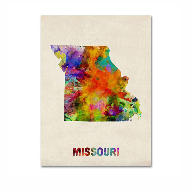 hot sale custom printing glossy laminated paper type art city map poster