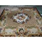 popular mixed Chip and Parquet marble mosaic floor medallion