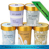 custom printed single wall ice cream paper cup with lid spoon
