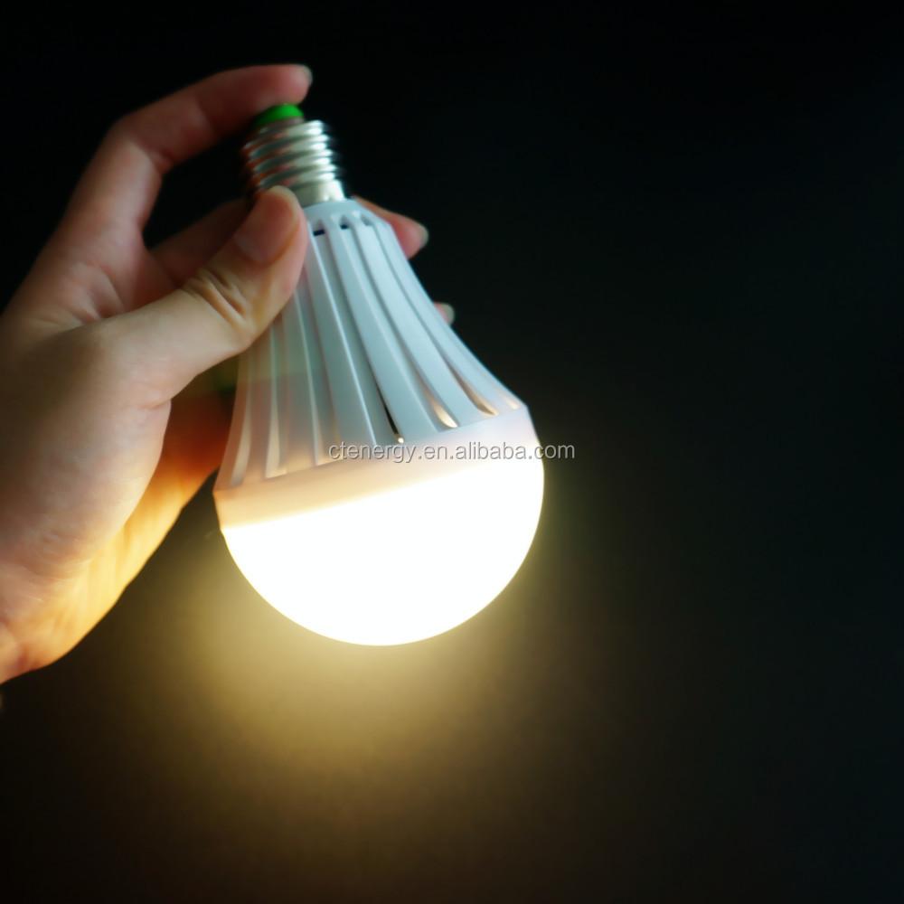 Warm White Led Lighting Emergency Light Bulb E27 B22 7w ...