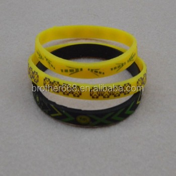 Beautiful Full Imprint Silicone Bracelet 1 8inch Thin Wristbands Rubber Bracelets