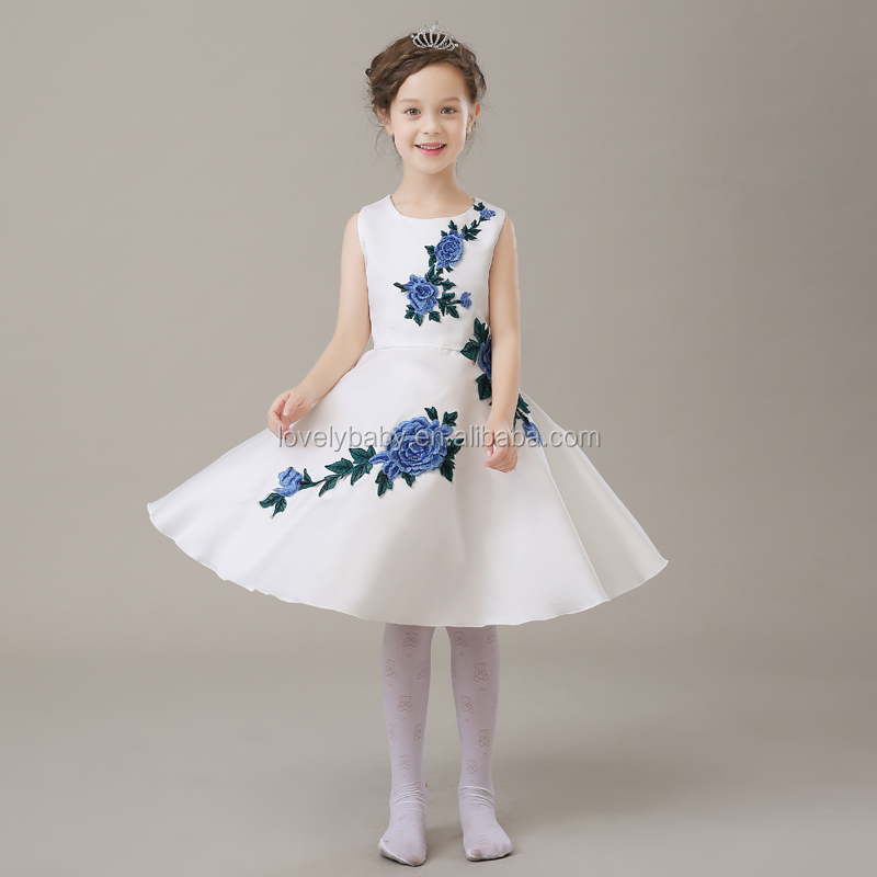 af44414eaef8 Fashion Girls Short Frocks Dress For 10 Years Girls Embroidery Kids ...