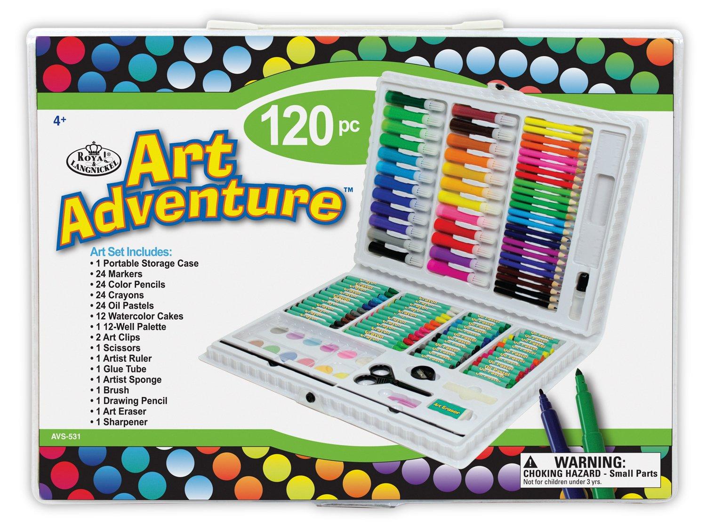 Royal Brush AVS-531 120 Piece Art Adventure Art Set, Multicolor