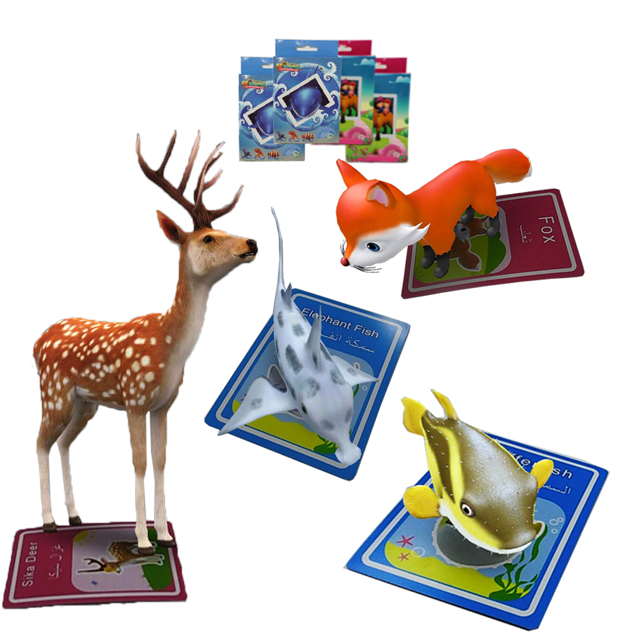 New products 2018 kids educational toys arkaka magic 4D augmented reality ar cards toys <strong>games</strong>