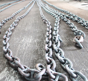 high quality 16mm-156mm stud link anchor chain for ship