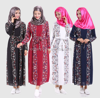 0af67d8739a8 New Style Abaya Long Sleeve Maxi Kaftan Muslim Dress For Islamic Women Plus  Size Muslimah Clothing