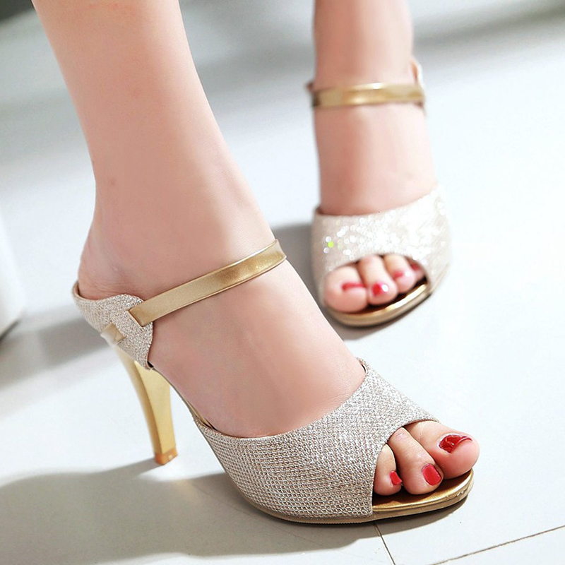 hot sale ladies women peep toe high heels