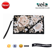 2017 Vintage Ethnic Trend Indian Embroidery Clutch Purse Bag In PU Material