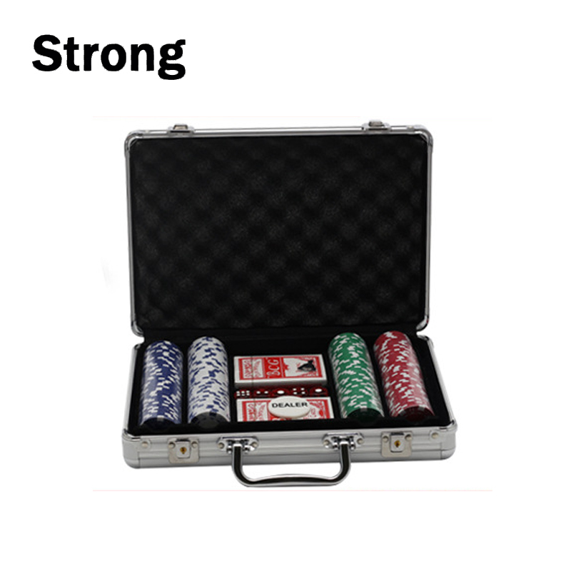 200 STKS Poker Chip Set met Aluminium Case