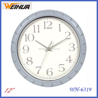 30cm round plastic quartz analog cheap clock