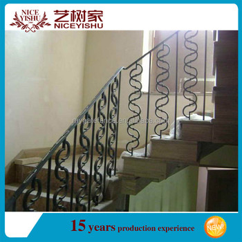 Modern Decorative Interior Wrought Iron Stair Railings/stair Grill Design  Home/used Wrought Iron