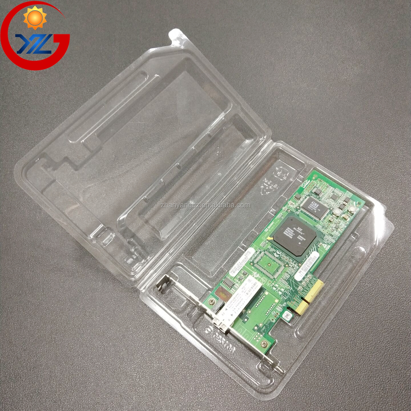 ESD Antistatic Transparent Blister Package Hinged lid Disposable Plastic Clear PET Tray