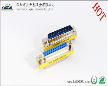 male to female 25 pin d sub mini connector