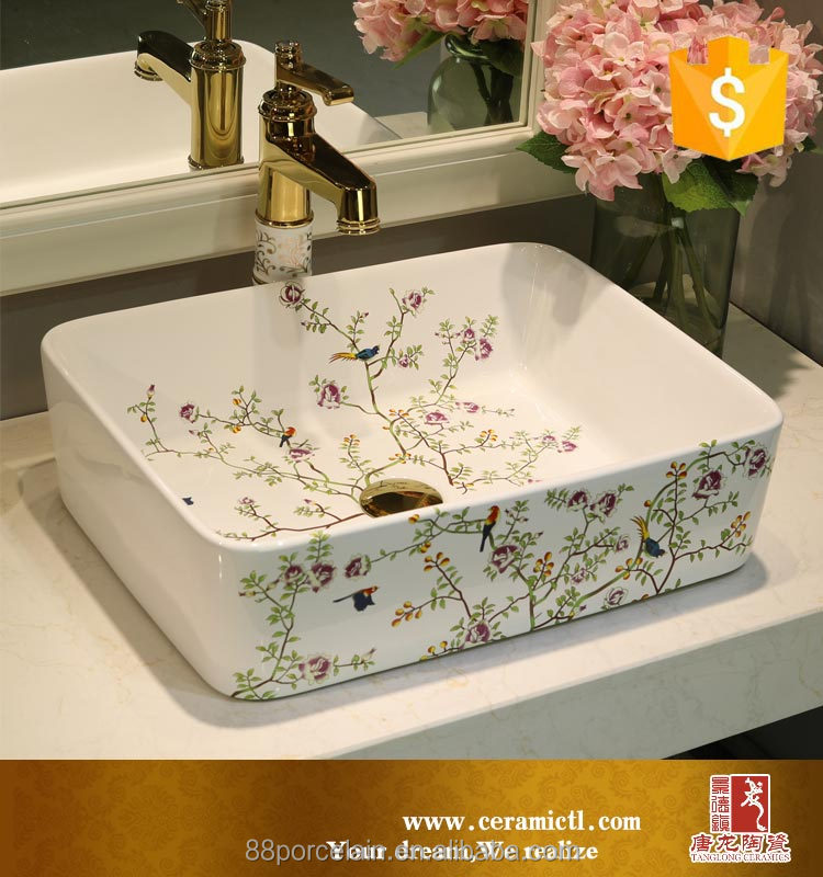 Hot Sale Hotel Home Best Basin Tender bud Decoration Countertop kids wash basin