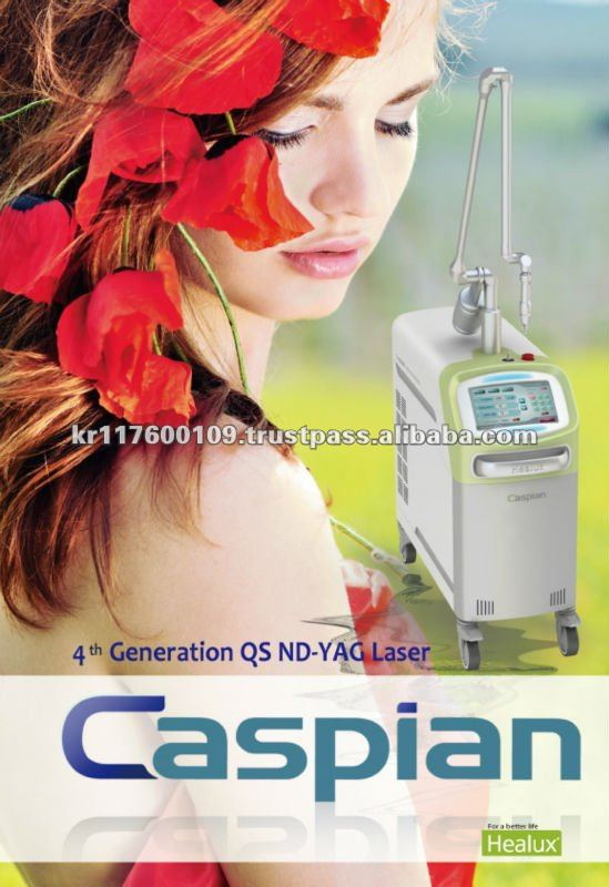 Beauty equipment medical laser equipment 532nm/1064nm Q-switched Nd-YAG Laser (Caspian)