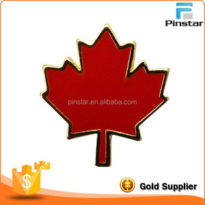 Die Casting Badge Type Canada Flag Maple Leaf Custom Metal Lapel Pin