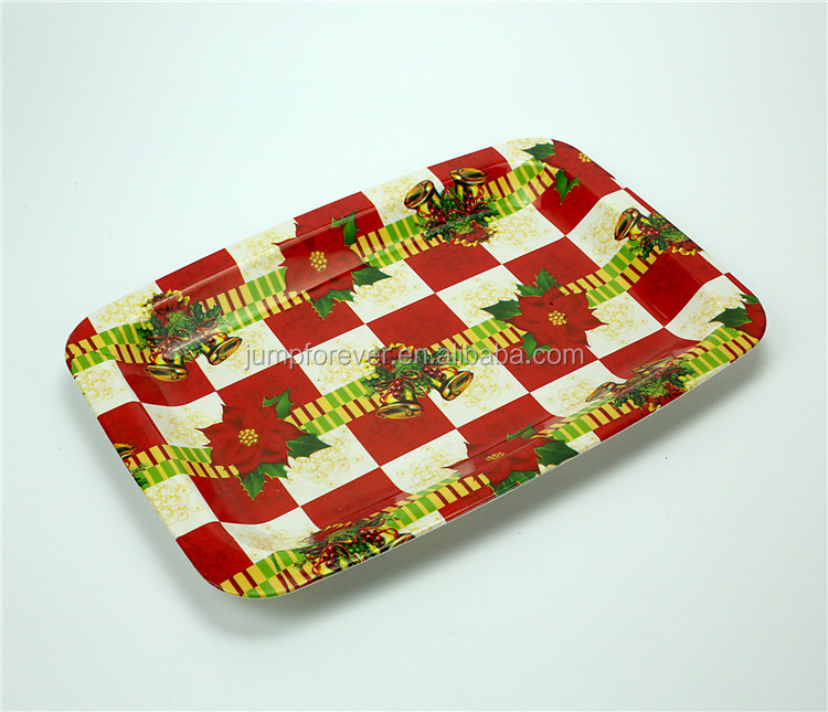 Wholesale Non-slip Cheap Plastic Fast Food Charge Serving Trays