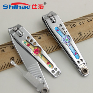 Cheap Special Cut Out Smile Face Design Nail Clipper Souvenir Customized Nail Cutter with Earpick