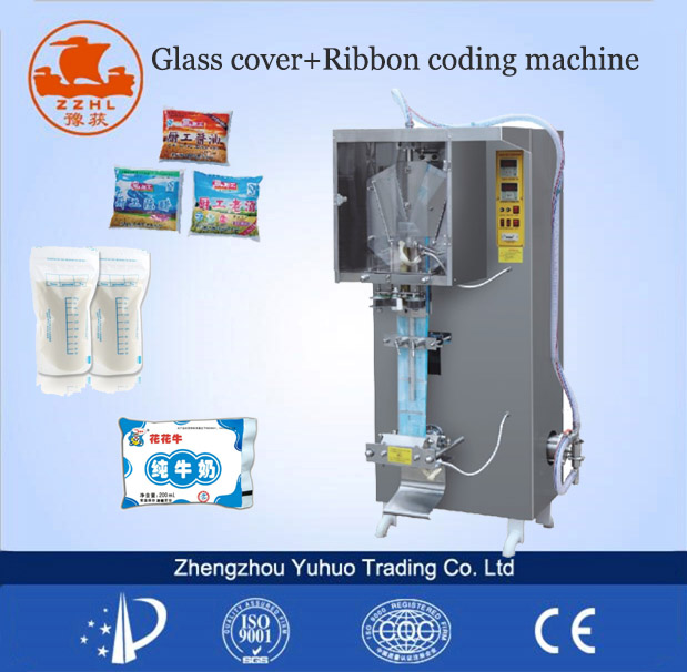 Auto water milk liquid pouch packing machine