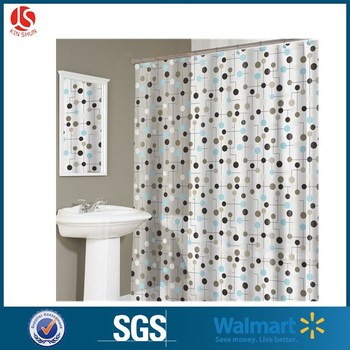 Mildew Resistant Anti Bacterial PEVA 8G Shower Curtain Liner