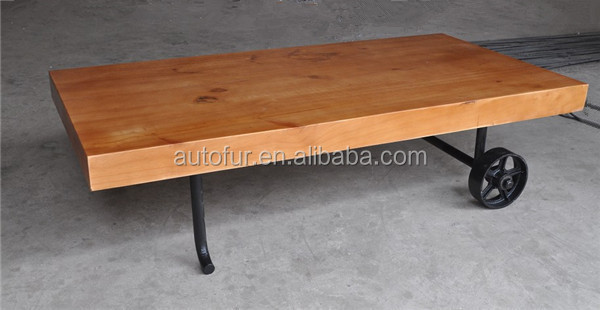 Antique Rectangle Vintage Industrial Metal Coffee Table Tea Table ...