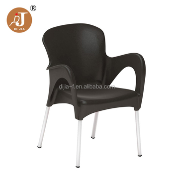 Whole Price Patio Plastic Garden Chairs With Aluminum Legs