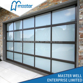 Aluminum Frame Frosted Glass Panel Garage Doors Buy Glass Garage