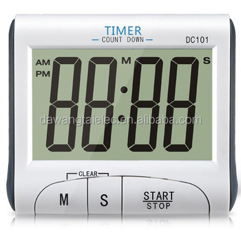 DC101 LCD Digital Kitchen Timer Countdown Cooking Timer Count Down Alarm  Clock