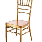 popular tiffany dining aluminum stacking luxury gold wedding event chiavari chair