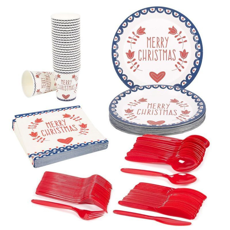 Party Supply Decoration Paper Tableware Cutlery Set