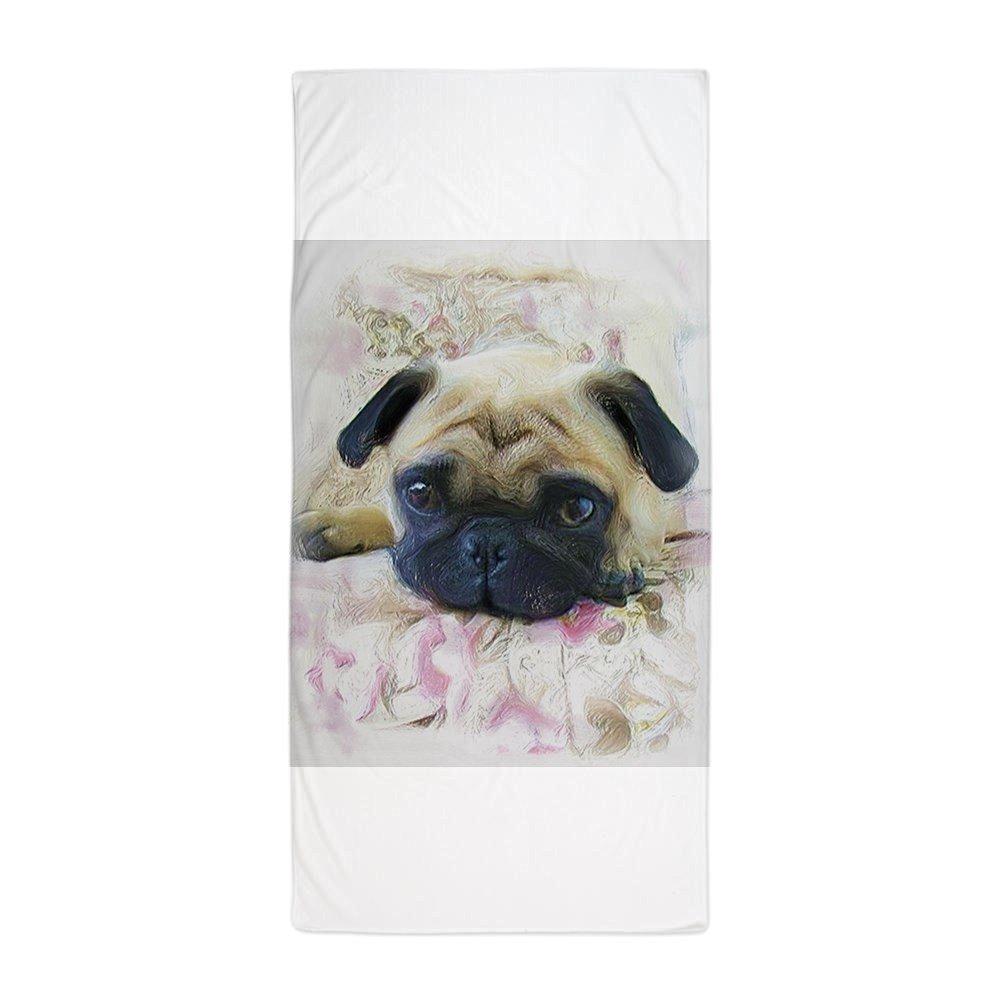 "CafePress - Pug.JPG - Large Beach Towel, Soft 30""x60"" Towel with Unique Design"