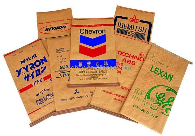 kraft paper coated pp woven packing feed bag charcoal bag