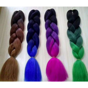 Best Quality Blue Color Yaki Xpression Synthetic Hair Braids