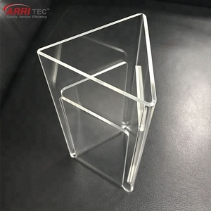 3 sides single flyer holder acrylic sign holder standing a4 sign holder clear acrylic flyer display stand