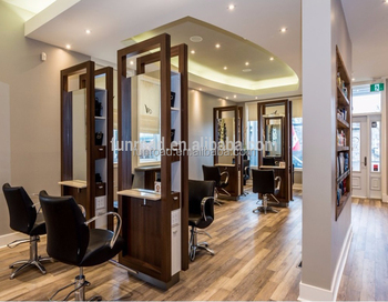 Modern Hair Salon Furniture Styling Station With Reception Desk