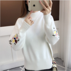 Wholesale Knitted Wool Lady Cashmere Plain Pullover Woman Sweater
