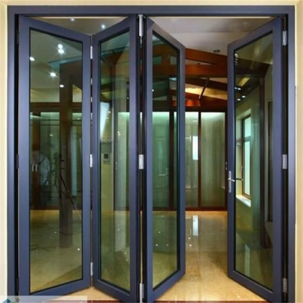Double Glazed Aluminium Accordion Manufacturers Shower Folding Doors