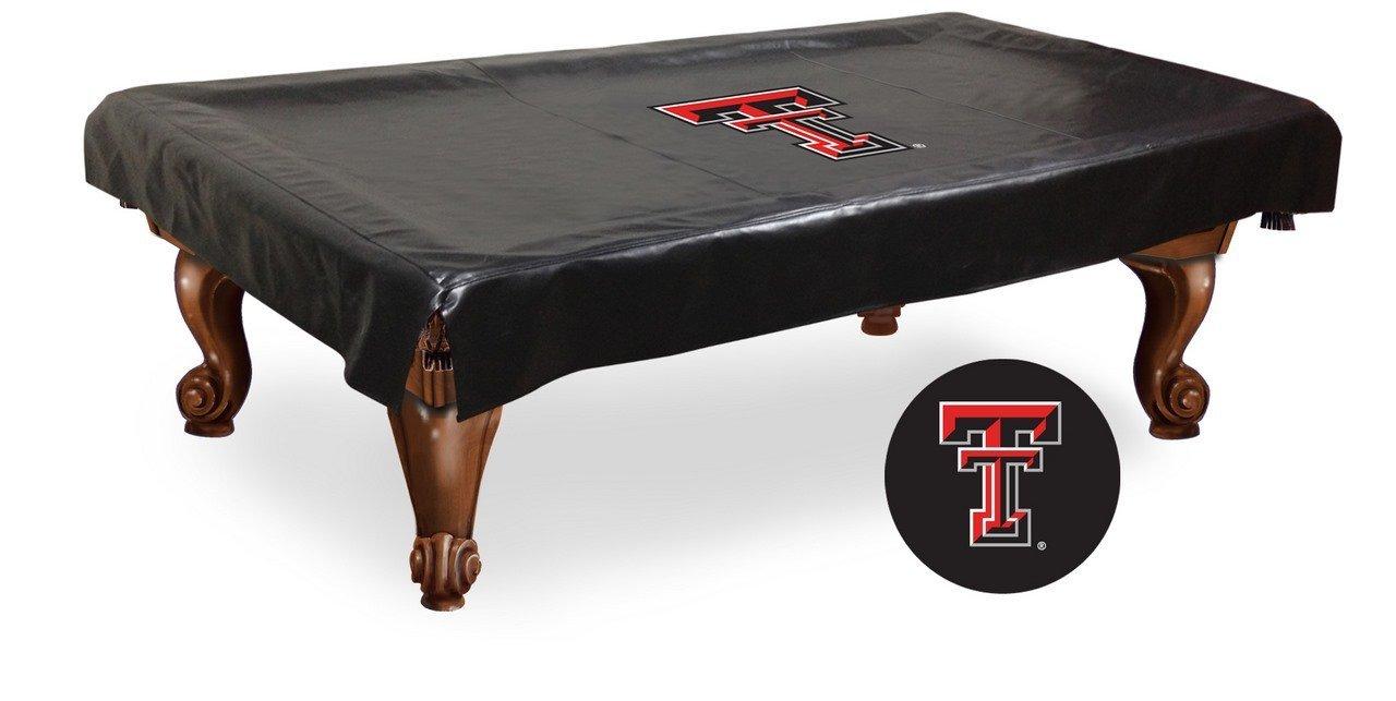 Get Quotations · Texas Tech Red Raiders HBS Black Vinyl Billiard Pool Table  Cover
