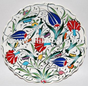 Turkish Hand Painted Ceramic Plate  sc 1 st  Alibaba : painting on ceramic plates - Pezcame.Com