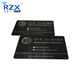 Custom Silkscren Printing Laser Engraving Serial Number Matte Black PVC Card For Loyalty / Membership Program