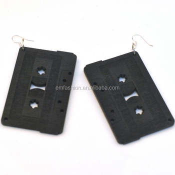 Size Hip Hop Customized Good Wood Cette Tape Earring