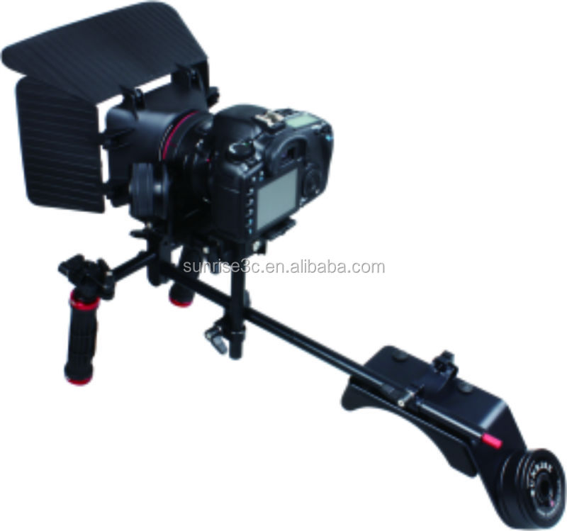 SUNRISE Camera Rig Height-adjustable Matte Box Gearless Mini Follow Focus Ergonomic Shoulder Pad With Counterweight