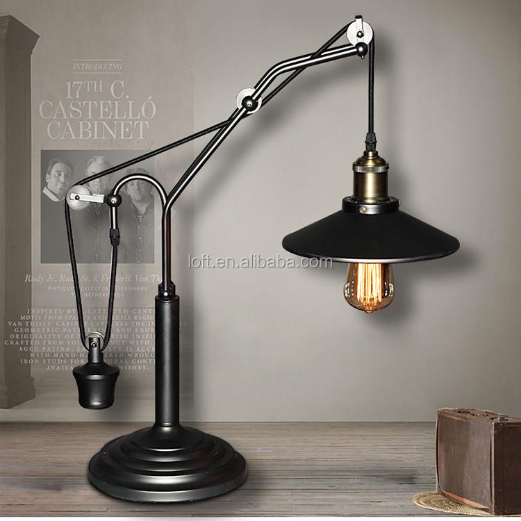 Ancient Light Vintage Industrial Table Lamp Plating Gun Black ...
