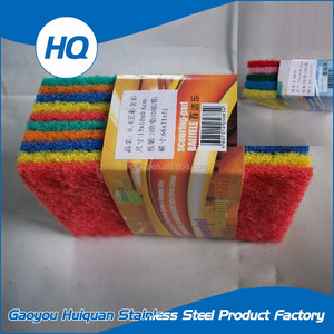 Non-deformation kitchen cleaning sponge scourer pad