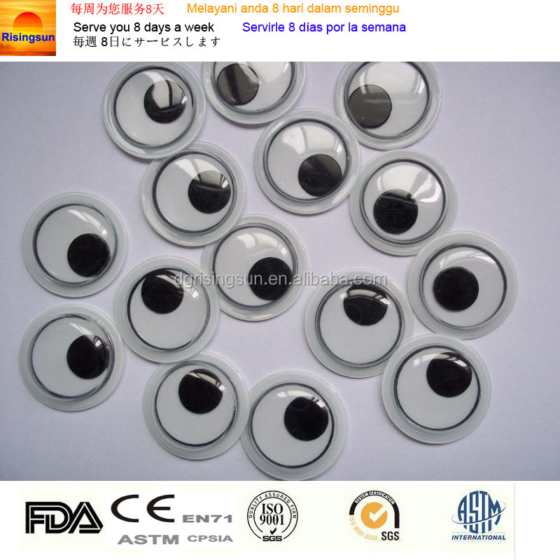 PVC stick wiggle eyes DIY fake eye plastic safety toy moving eyes