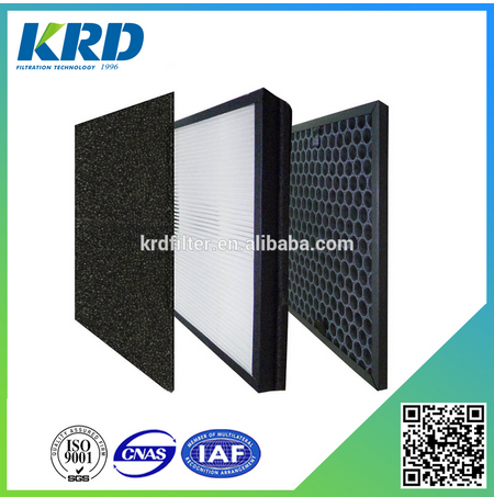 Odor Removal Activated Carbon Hepa Air Filter